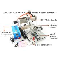 Wholesale Mach3 Wireless MPG 3D CNC Router , 800w Water Cooled Spindle 4 Axis CNC 3040 Router from china suppliers