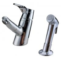 Wholesale Unique 2 Hole Ceramic Low Pressure Basin Taps Faucets , Pull Out Shower Head With Switch from china suppliers