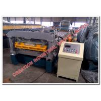 Wholesale Prepainted Aluminium and Steel Roofing Step Tile Panel Making Machine with Auto Hydraulic Cutter from china suppliers
