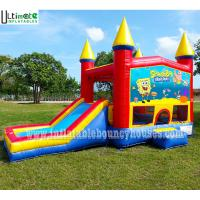 Wholesale 5in1 Kids Module Panel SpongeBob Inflatable Bounce House With Pillars N Hoop from china suppliers
