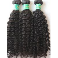 Wholesale Indian Remy Hair Curly Double Weft Virgin Human Hair Extensions No Tangle from china suppliers