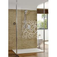 Buy cheap 4mm 5mm 6mm Custom Pattern Clear Silk Screen Glass For Shower Screens from wholesalers