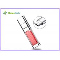 Wholesale Transparent crystal red decoration screen novelty flash drives Promotional gift from china suppliers