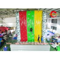 Wholesale Customized Inflatable Climbing Wall / Inflatable Rock Climbing Wall For Children / Adults from china suppliers