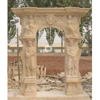 Wholesale Golden Bay Mantel Sculpture Marble stone Fireplace from china suppliers