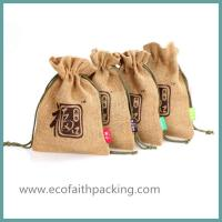 Wholesale small jute bag, jute gift pouch from china suppliers