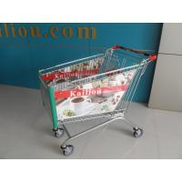 Wholesale 180L Acrylic Advertisement Supermarket Shopping Trolley 4 Wheels ISO9001 - 2008 from china suppliers