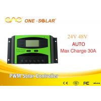Wholesale Off Grid 30A 24v / 48v PWM  Smart Solar Charger Controller For Solar Panel / Inverter from china suppliers