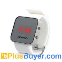 Wholesale Stylish Mirror LED Digital Watch - White from china suppliers
