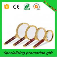 Wholesale Custom Wooden Handle 2x / 5x Magnifying Glass For Promotional Gift from china suppliers