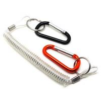 Buy cheap Personnal heavy tool tether transparent clear wire coiled extension lanyard with carabiner from wholesalers
