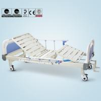 Wholesale Double Cranks Manual Hospital Bed Adjustable With ISO / CE / FDA Certificate from china suppliers