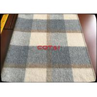 Wholesale Wholesale 60 Wool 900G/M Double Sided 8CM Tartan / Plaid Fabric With Gray Twill Inside Coating Wool Fabric from china suppliers