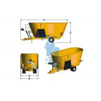 Wholesale Yellow Cattle Feed Grinder Mixer , High Speed Grain Feed Mixer Grinders For Livestock from china suppliers