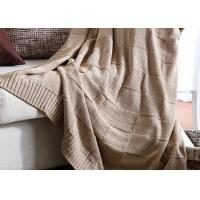 Wholesale Professional Knitted Wool Blanket Flame Retardant For Home / Car from china suppliers