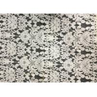 Wholesale White Swiss Cotton Embroidery Lace Fabric , Cotton Lace Trim For Party from china suppliers