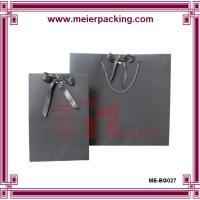Wholesale Custom Logo printed paper different sizes gift bags with ribbon bow ME-BG027 from china suppliers