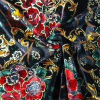 Wholesale 2018 hot sale burnout printed KS silk velvet fabric for dresses from china suppliers