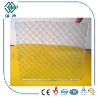 Wholesale Safety translucent laminated glass , 12mm 6mm Wired patterned glass for partition from china suppliers