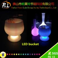 Wholesale Event Furniture Decorative Plastic Wireless led ice bucket from china suppliers