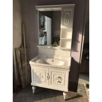 Quality Classical 15mm PVC Bathroom Cabinet Silver Color Ceramic Basin ISO 2000 Standard for sale