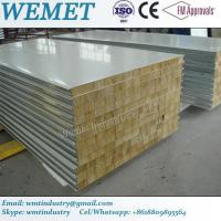 Quality Old type rock wool fire proof  insulated wall panel with metal joint 950mm/1150mm for sale