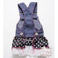 Quality Popular chiffon dog skirt, cool jean material together with sexy skirt design for sale