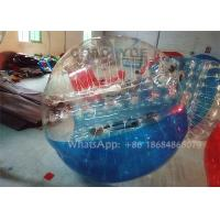 Quality Half Color Durable TPU Inflatable Zorb Bumper Ball / Bubble Soccer Football With Pump for sale