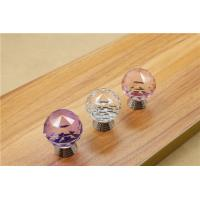 Quality European Style Drawer Crystal Pulls Cabinet Door Pulls Handles Furniture Konbs for sale