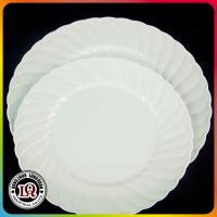 Wholesale Wholesale Milk-white PS Plastic Plate with Ripple Rim from china suppliers