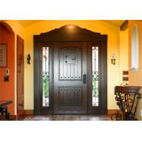 Wholesale Magahongany Front Main Solid Wood Replacement Doors Finished Surface Treatment from china suppliers