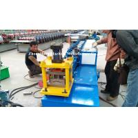 China Blue Metal Roll Shutter Door Forming Machine With 4kw Hydraulic Cutting on sale