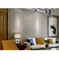 Wholesale Fireproof 3D Brick Effect Wallpaper / Textured Brick Wallpaper For Project , 0.7*10M from china suppliers