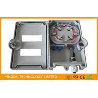 Wholesale 2 / 4 Core FTTX Outdoor Fiber Termination Box Wall Mount With PC / ABS Material from china suppliers