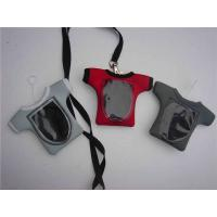 Wholesale T-shirt shaped neoprene smart phone holder lanyards, neoprene mobile phone pouch straps, from china suppliers