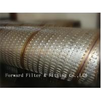 Quality Straight Seam Welded / Spiral Interlock Connected Perforated Metal Tube for sale