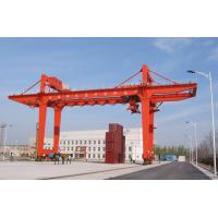 Wholesale Professional Rubber Tyre Double Beam Gantry Crane , Movable Gantry Crane from china suppliers