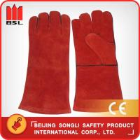 Wholesale SLG-HD8020-R4 cow split leather welding gloves from china suppliers