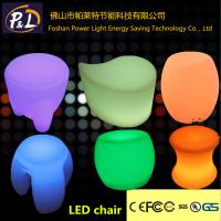 Quality led furniture plastic led chair for sale