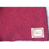 Wholesale Dark Red Wool Fabric In Stock 5 Cashmere , 60% Wool Suiting Fabric For Women Winter Skirts from china suppliers