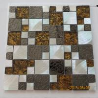 Quality 304 STAINLESS STEEL MOSAIC TILES WITH GLASS(EMBOSING TILES ) for sale