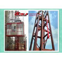 Wholesale 34m speed twin cage 2000kg capacity construction site lift from china suppliers