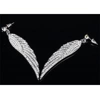 Wholesale 316L Stainless Steel Earrings Angel Wing Earrings Cubic Zirconia Jewelry from china suppliers