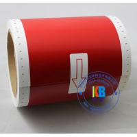 Wholesale Thermal transfer pvc label red yellow color 100mm*10m compatible for Max Bepop  CPM-100 HG3C from china suppliers