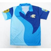 China Dri Fit Cricket Team Jersey Shirts Heat Transfer Printing Sweat Releasing for sale