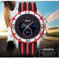 Wholesale SBAO Men Dual Time Fashion Sport Watches Steel Band Silicone Band Steel Bead Strap Optional  S-9010 from china suppliers