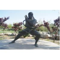 Wholesale Bronze man doing Tai Chi Chinese kung fu statue from china suppliers