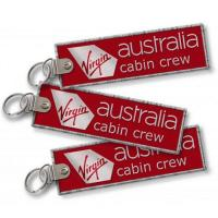 Wholesale Virgin Australia Cabin Crew Crew Baggage Tag Embroidered Keychain from china suppliers