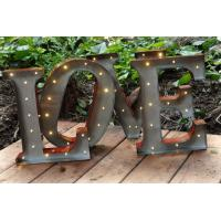 Wholesale Vintage Metal LED Love Light Letters Waterproof 3D For Wedding Party from china suppliers