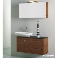 Wholesale PB Board Modern Bathroom Cabinets Vanities , Tempered Glass  Basin from china suppliers